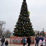 Главная площадь г. Георгиевска, декабрь 2020 г.